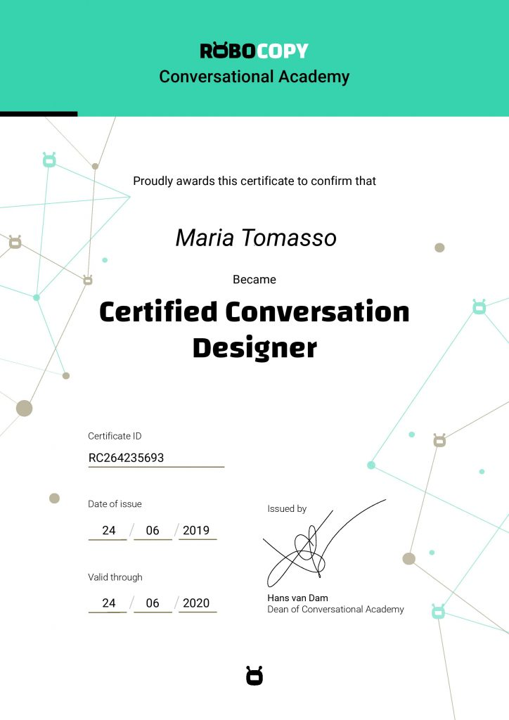 Certified Conversation Designer